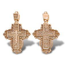 Золотой старообрядческий женский крестик