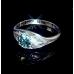 Перстенёк Вифлеемская звезда с изумрудом