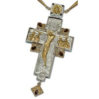 Крест Протоиерейский серебро с позолотой