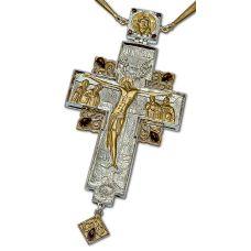 Крест Протоиерейский серебряный с позолотой