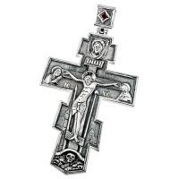 Крест Нательный большой с фианитом