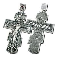 Большой Православный крест с фианитом