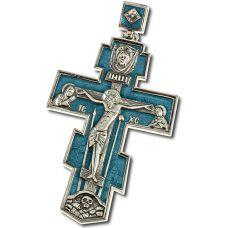 Крест Нательный большой с эмалью