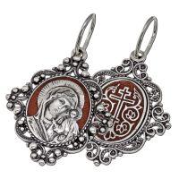 Образок Богородица филигрань с эмалью