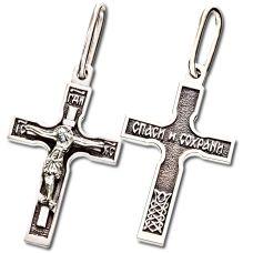 Крест Четырёхконечный малый с Распятием