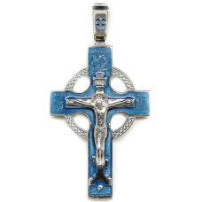 Крест Венцовый большой Распятие с эмалью