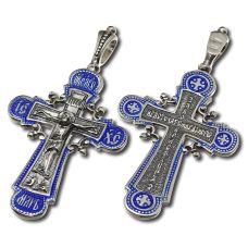 Крест Накупольный Распятие с эмалью