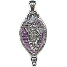 Медальон Ангел Хранитель с эмалью