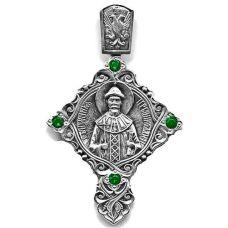 Крест с фианитами Св.Благовер Царь-Мученик Николай II