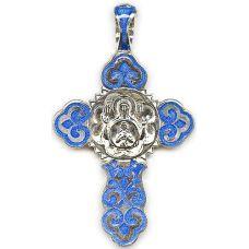 Крест с эмалью Изображение иконы Б.М.Знамение