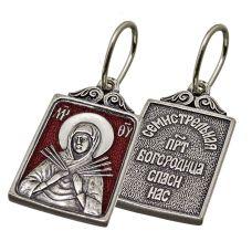 Образок Семистрельная Пресвятая Богородица с эмалью