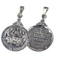 Образок Святая Троица с жемчугом
