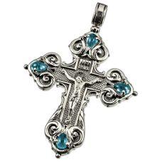Крест Православный с фианитами