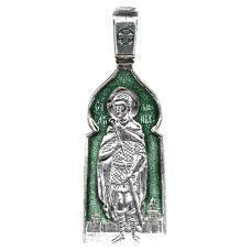 Александр Невский образок с эмалью