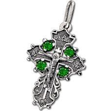 Крест Малая корона с фианитами