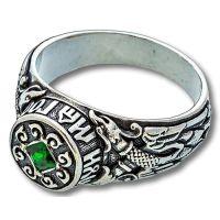 Перстень Птица Гамаюн с фианитом