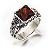 Перстень Птица Гамаюн серебряный с фианитом