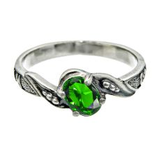 Кольцо охранное с изумрудом 35913