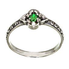 Кольцо Лилия Богородицы с изумрудом