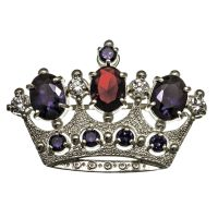 Брошь Корона Богородицы с фианитами