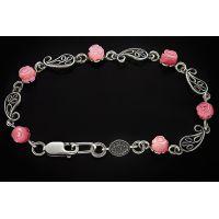 Браслет Розочка розовый перламутр