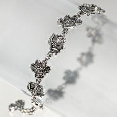 Браслет Магнолия серебряный