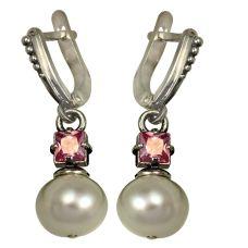 Серьги серебряные Перл с жемчугом