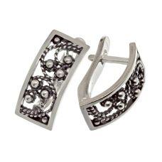 Серьги серебряные Филиграния