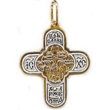 Крест Славянский позолота