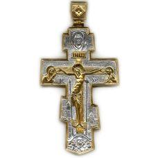 Крест Нательный большой позолота