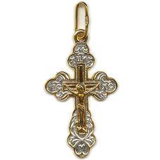 Крест Виноградный с позолотой
