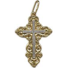 Крест Ажурный позолота