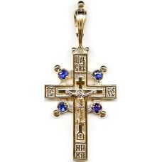 Крест Имисса с позолотой и фианитами