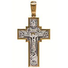 Крест православный Распятие позолота