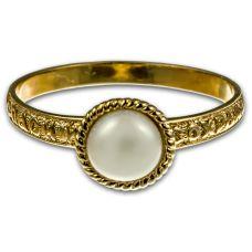 Кольцо Жемчужинка позолота